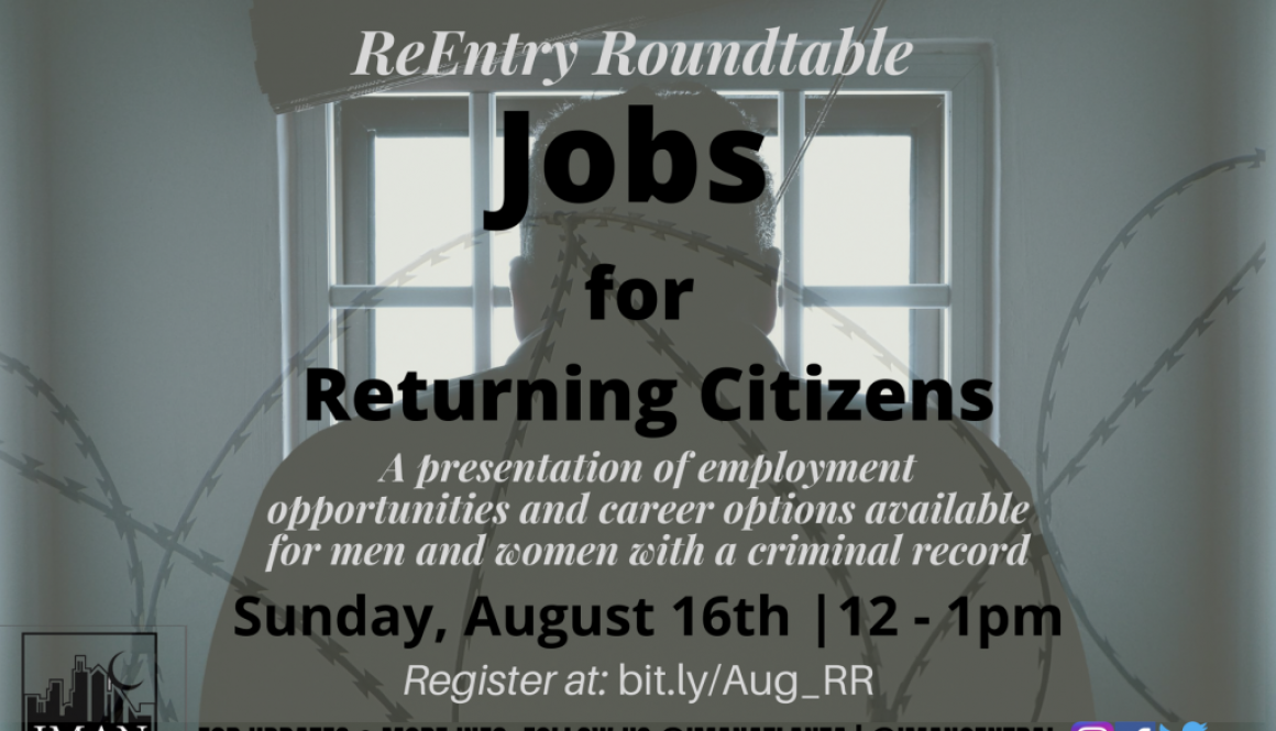 ReEntry Roundtable: Jobs for Returning Citizens